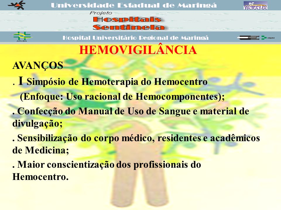 . I Simpósio de Hemoterapia do Hemocentro