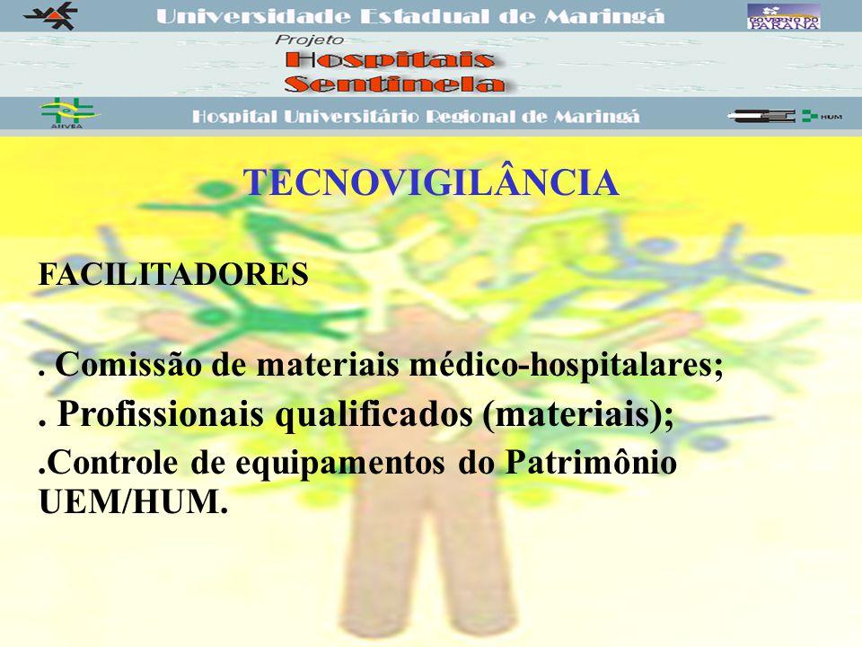 . Profissionais qualificados (materiais);