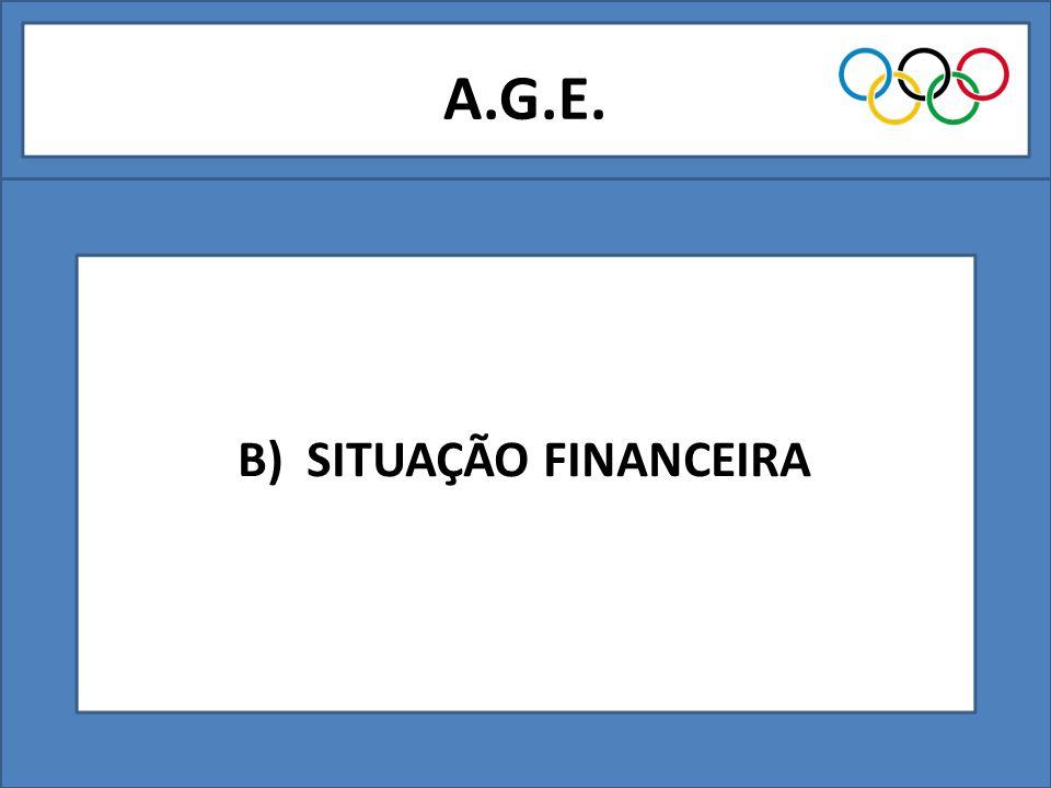 A.G.E. B) SITUAÇÃO FINANCEIRA