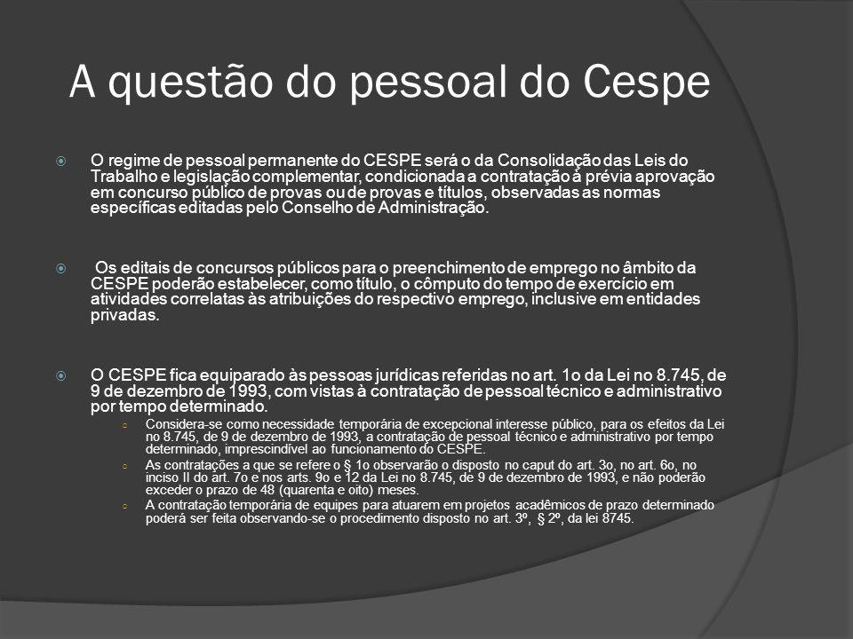 A questão do pessoal do Cespe