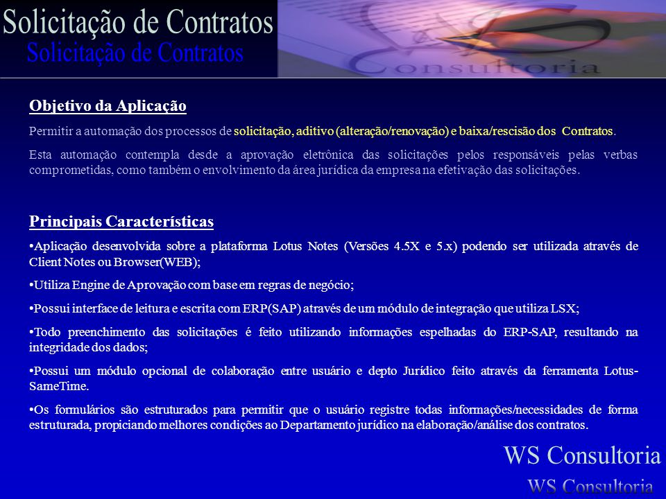 Solicitação de Contratos