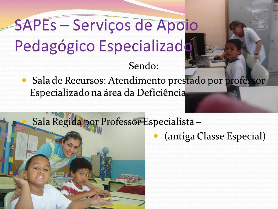 SAPEs – Serviços de Apoio Pedagógico Especializado