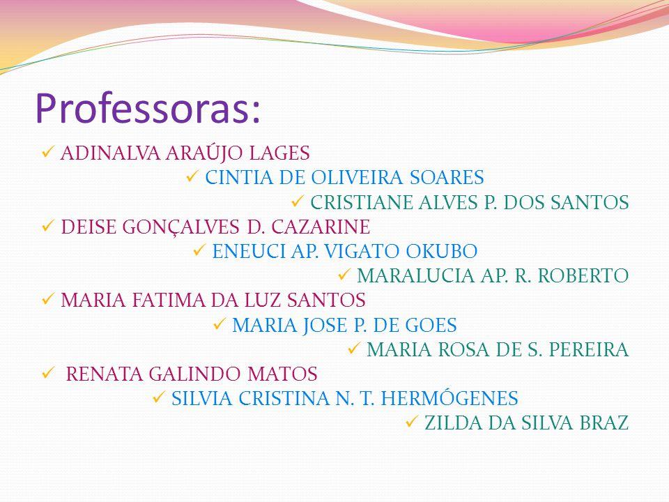 Professoras: ADINALVA ARAÚJO LAGES CINTIA DE OLIVEIRA SOARES