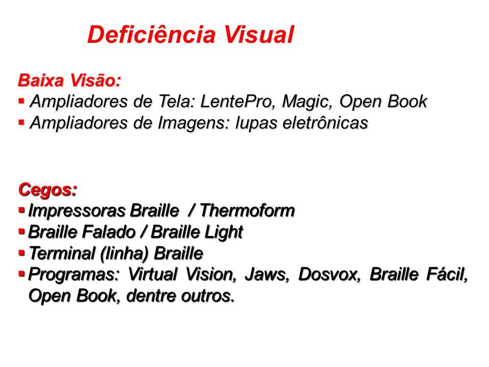 Deficiência Visual Baixa Visão: