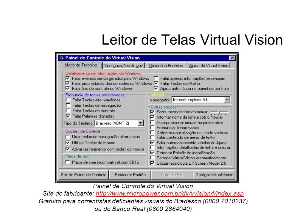 Leitor de Telas Virtual Vision