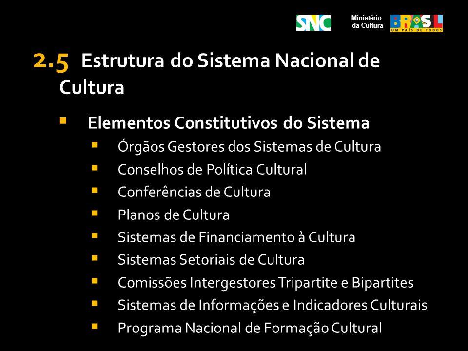 2.5 Estrutura do Sistema Nacional de Cultura