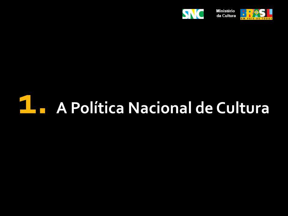 1. A Política Nacional de Cultura