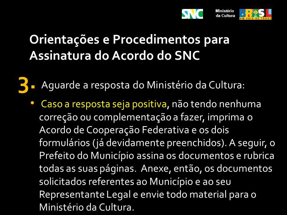 3. Aguarde a resposta do Ministério da Cultura:
