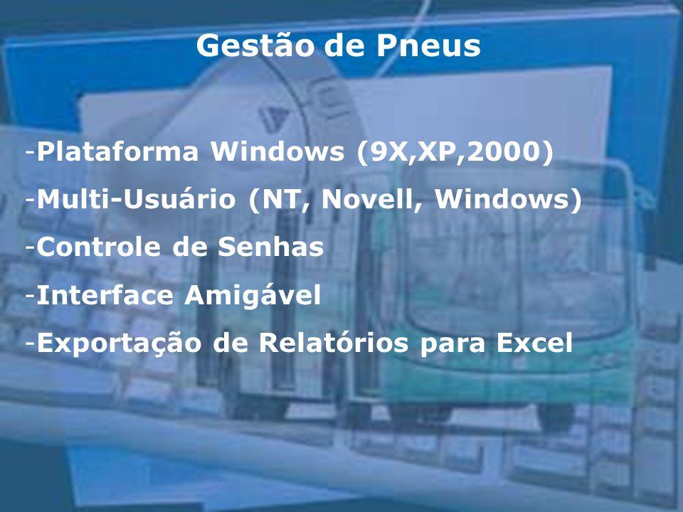 Gestão de Pneus Plataforma Windows (9X,XP,2000)