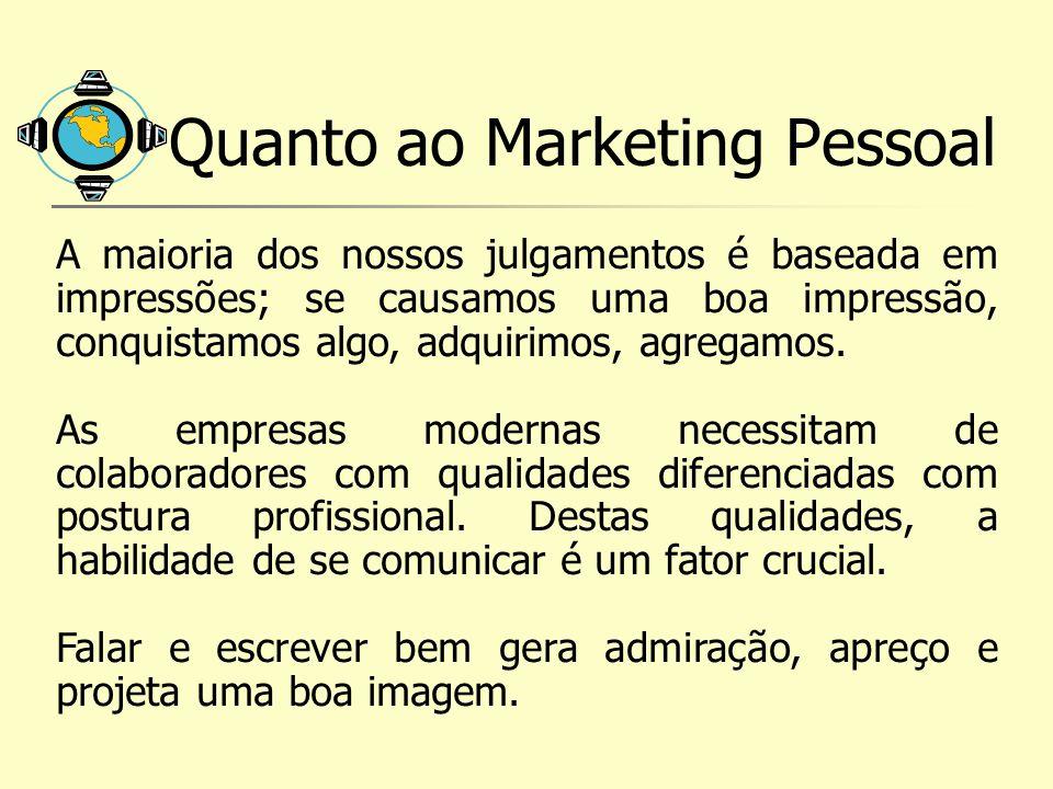 Quanto ao Marketing Pessoal