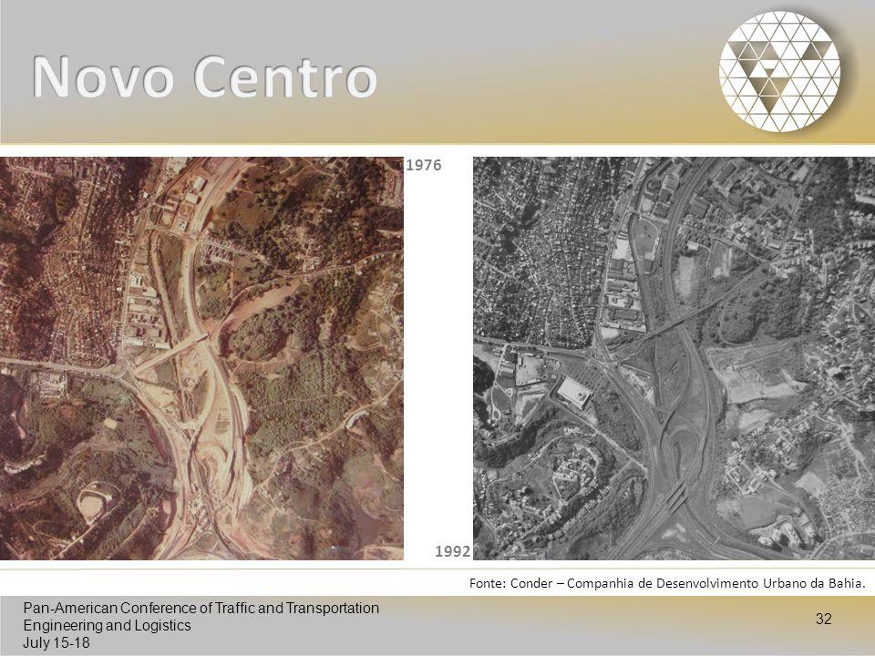 Novo Centro 1976 1992 Fonte: Conder – Companhia de Desenvolvimento Urbano da Bahia.