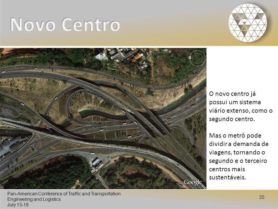 Novo Centro O novo centro já possui um sistema viário extenso, como o segundo centro.