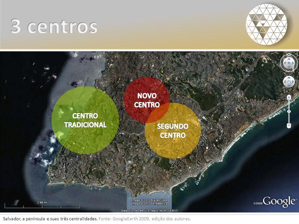 3 centros NOVO CENTRO CENTRO TRADICIONAL SEGUNDO CENTRO