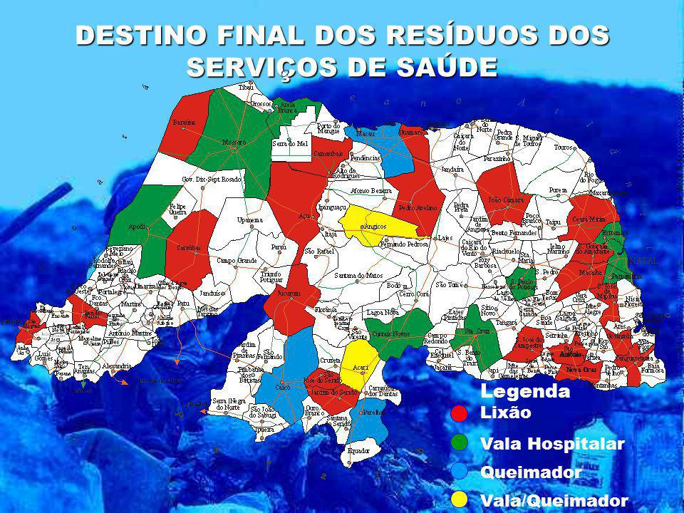 DESTINO FINAL DOS RESÍDUOS DOS SERVIÇOS DE SAÚDE