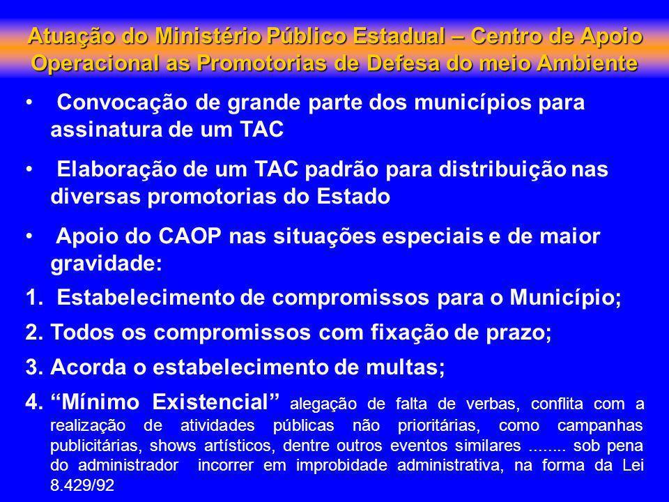 Atuação do Ministério Público Estadual – Centro de Apoio Operacional as Promotorias de Defesa do meio Ambiente