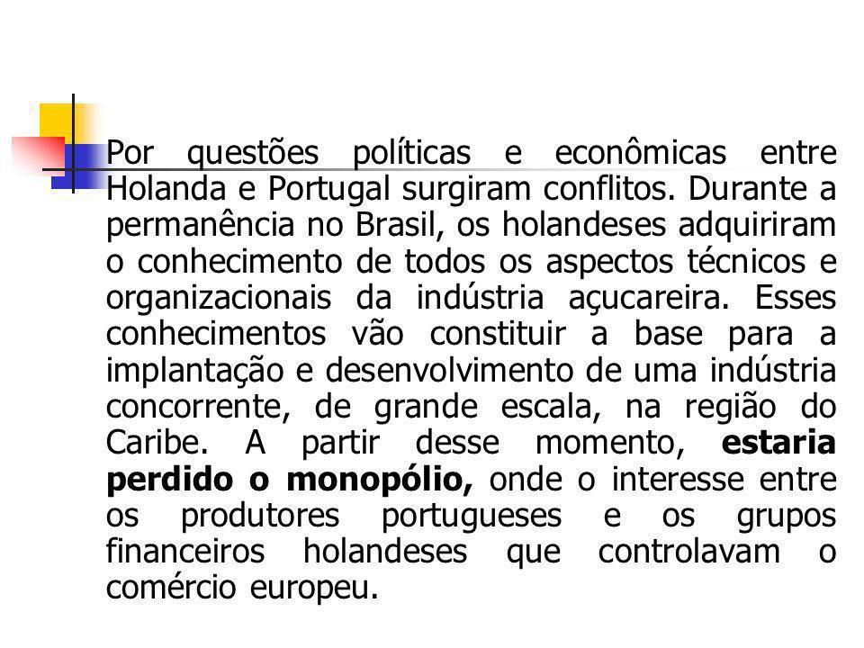 Por questões políticas e econômicas entre Holanda e Portugal surgiram conflitos.