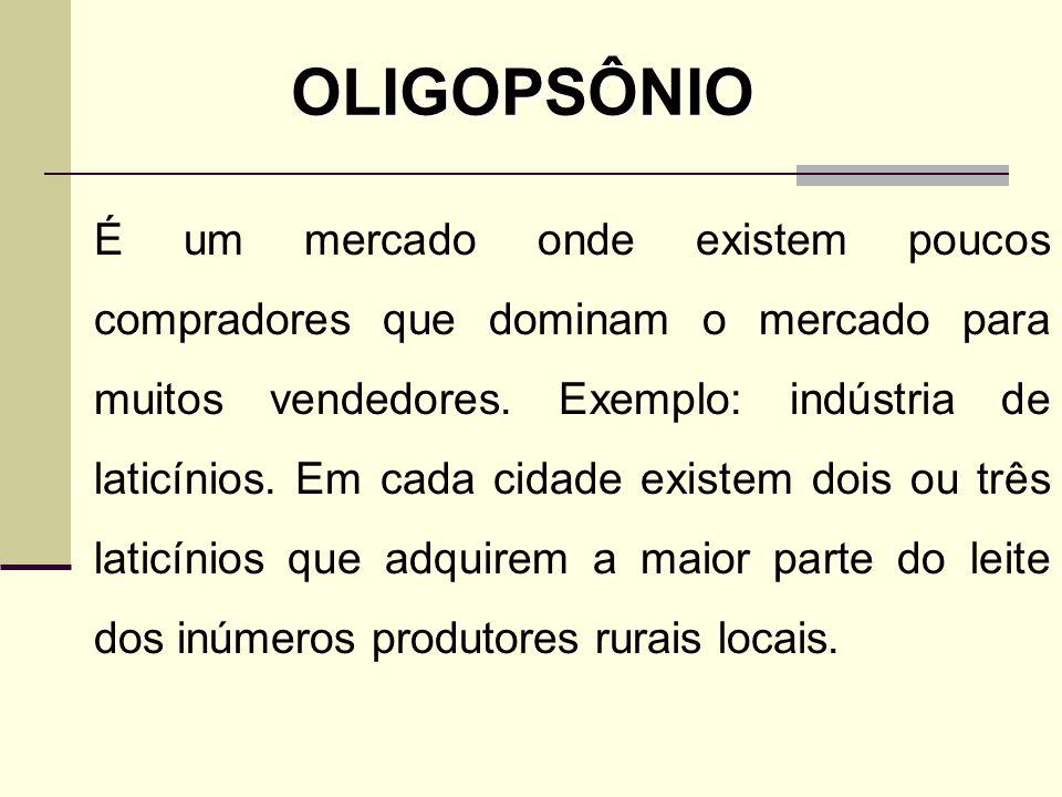OLIGOPSÔNIO
