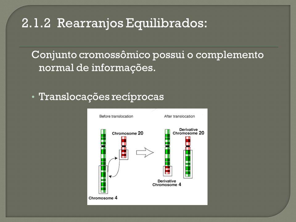 2.1.2 Rearranjos Equilibrados: