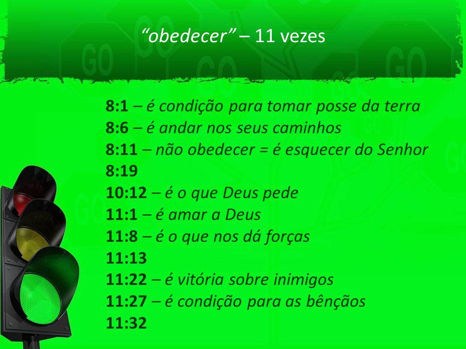 obedecer – 11 vezes 8:1 – é condição para tomar posse da terra
