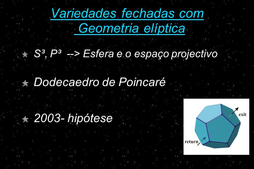 Variedades fechadas com Geometria elíptica