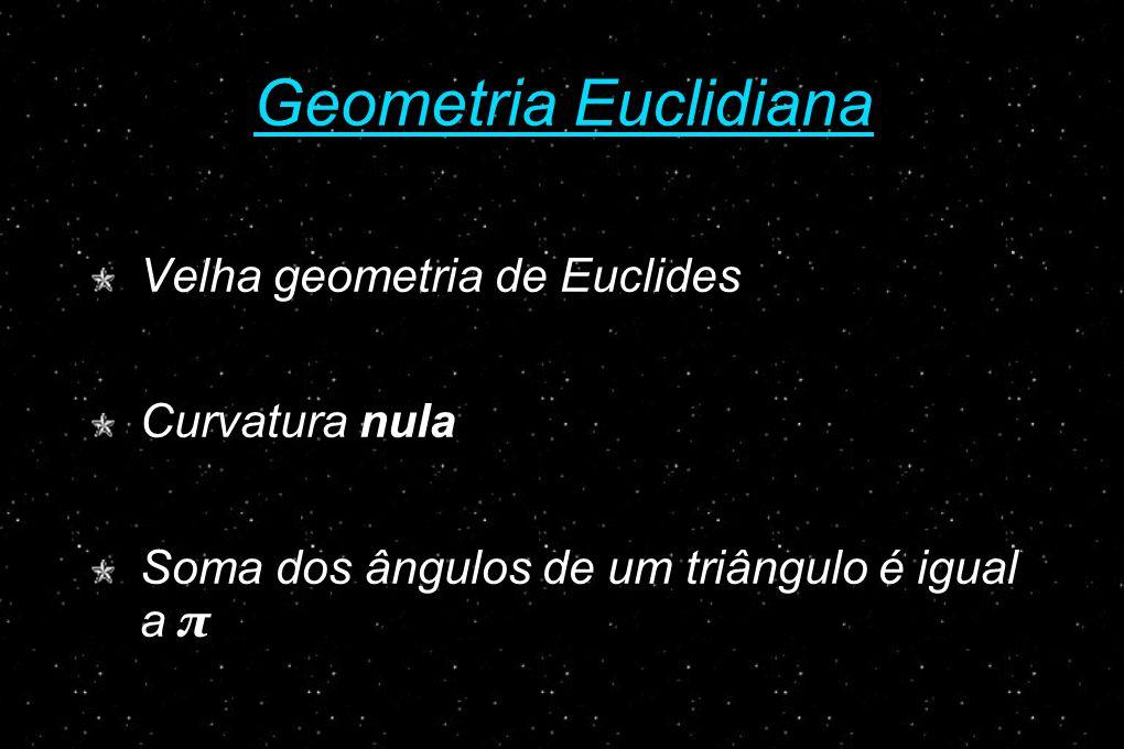 Geometria Euclidiana Velha geometria de Euclides Curvatura nula