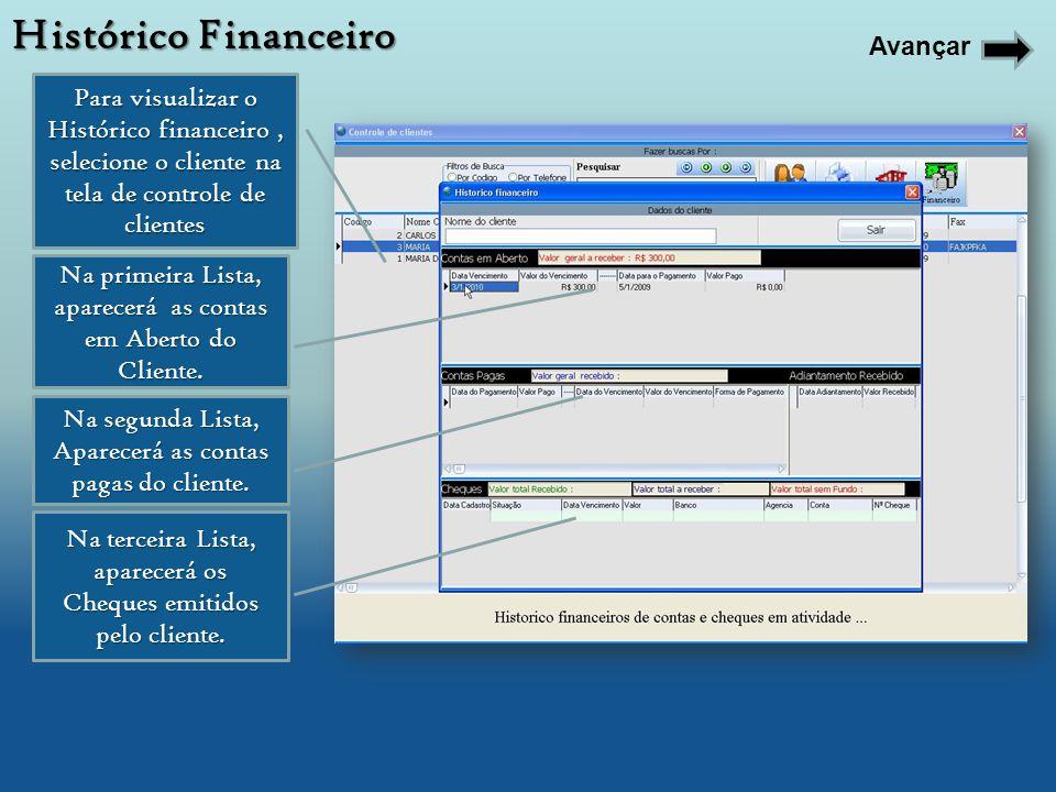 Histórico Financeiro Avançar