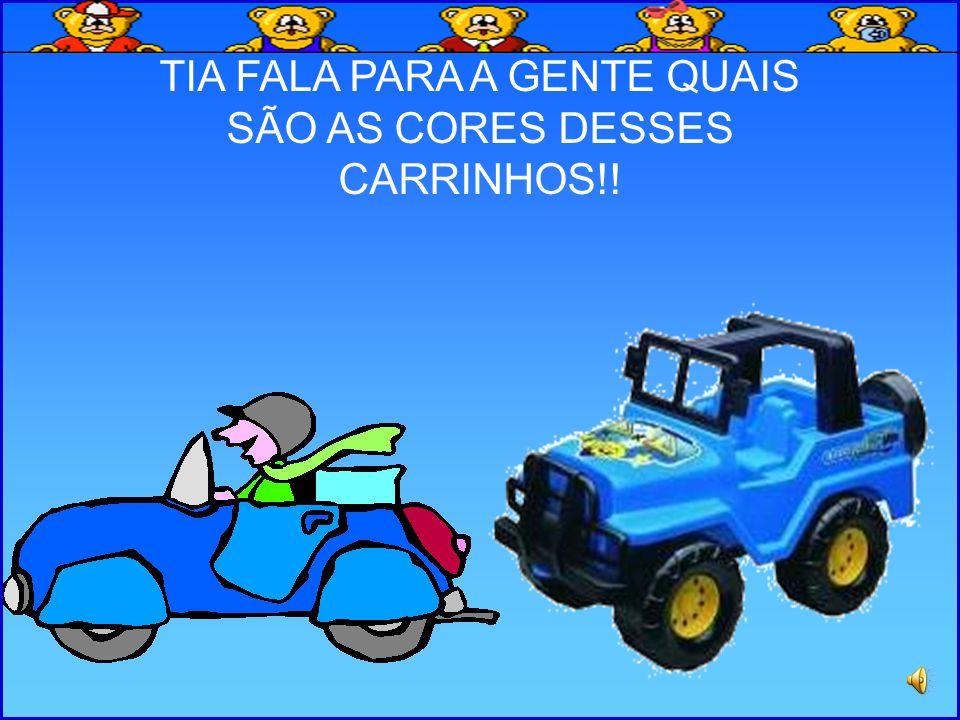 TIA FALA PARA A GENTE QUAIS SÃO AS CORES DESSES CARRINHOS!!