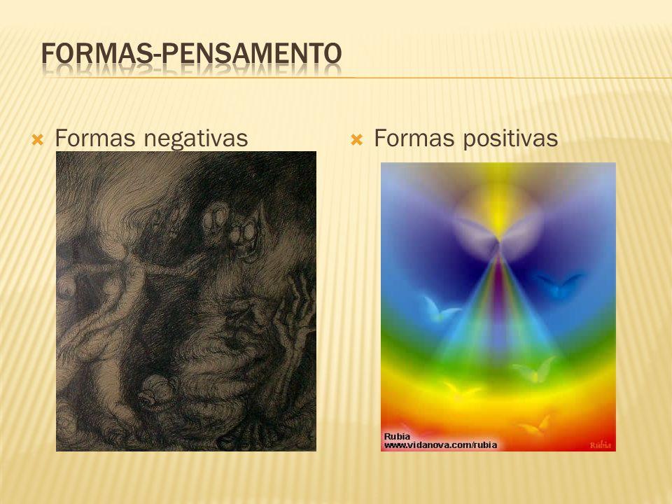 FORMAS-PENSAMENTO Formas negativas Formas positivas