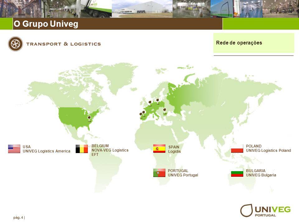 O grupo Univeg O Grupo Univeg Rede de operações