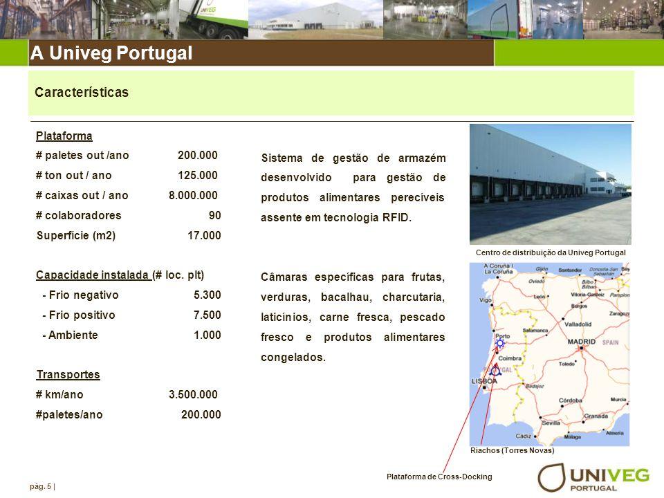 Centro de distribuição da Univeg Portugal Plataforma de Cross-Docking