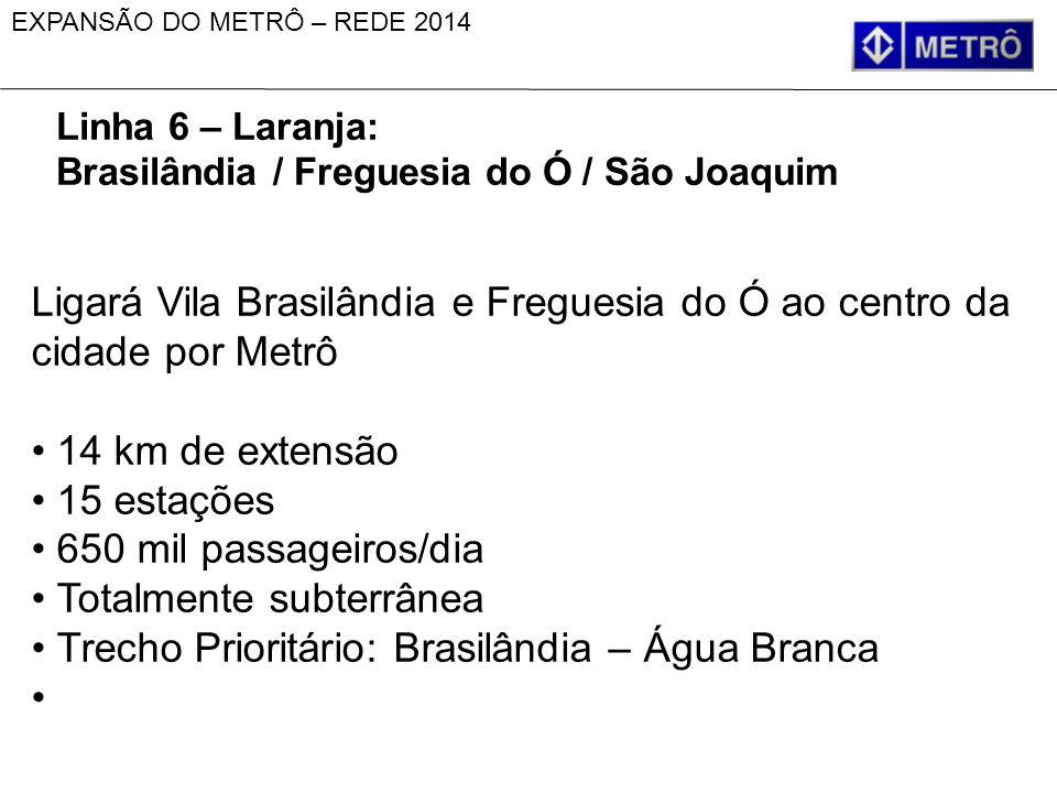 Ligará Vila Brasilândia e Freguesia do Ó ao centro da cidade por Metrô