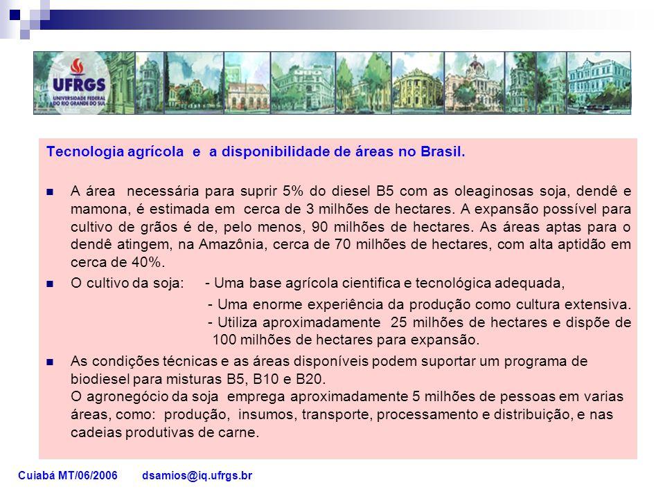 Tecnologia agrícola e a disponibilidade de áreas no Brasil.