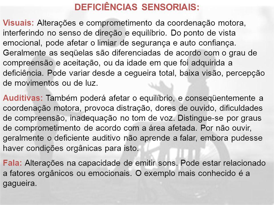 DEFICIÊNCIAS SENSORIAIS: