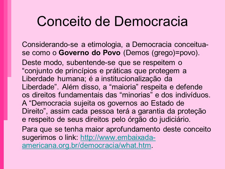 Conceito de Democracia