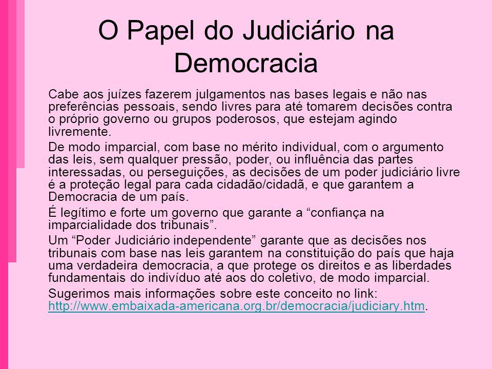 O Papel do Judiciário na Democracia