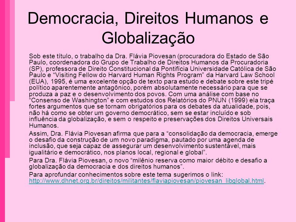 Democracia, Direitos Humanos e Globalização