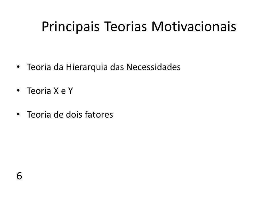 Principais Teorias Motivacionais