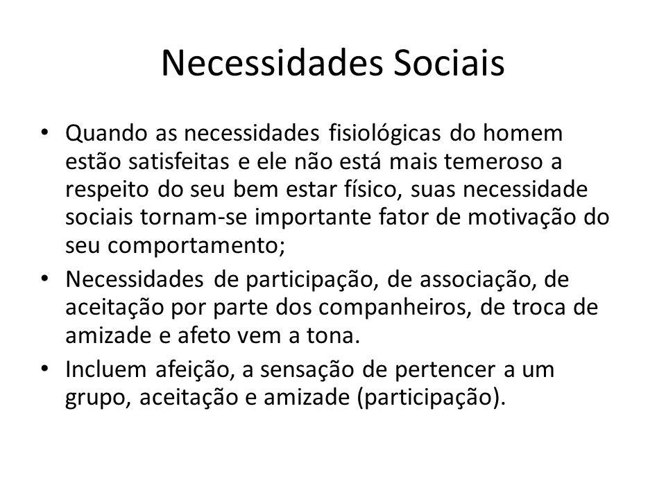 Necessidades Sociais