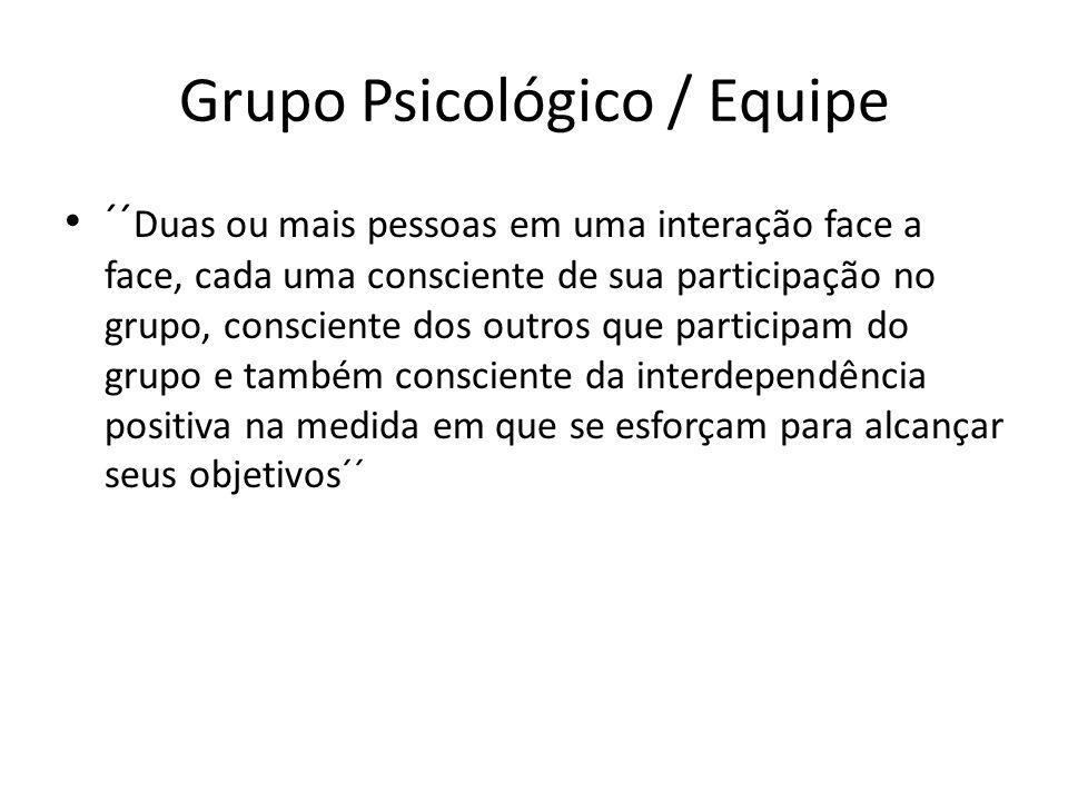 Grupo Psicológico / Equipe