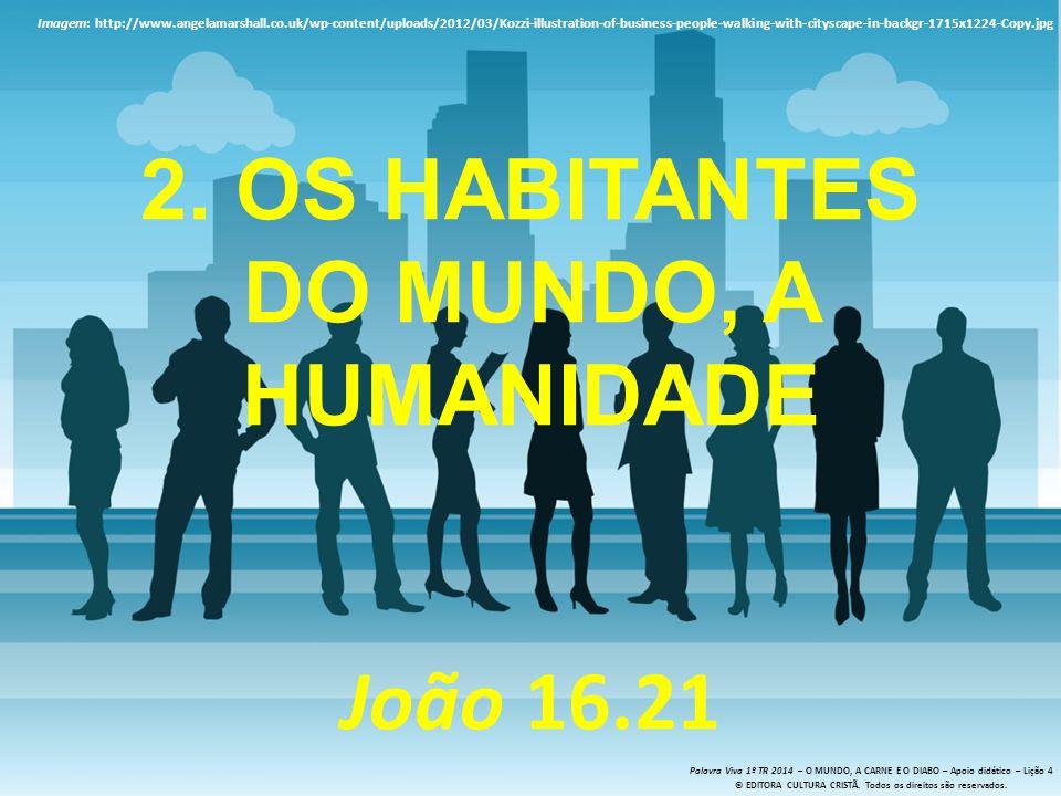 2. Os habitantes do mundo, a humanidade João 16.21