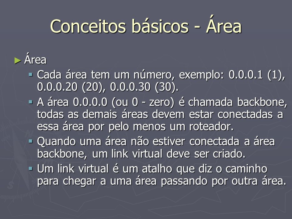 Conceitos básicos - Área