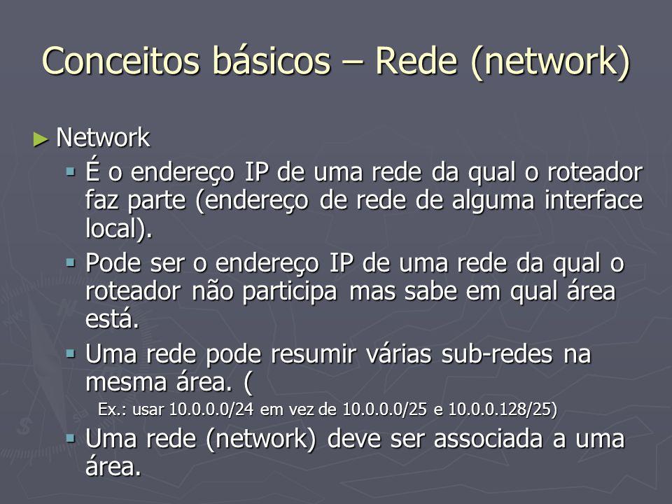 Conceitos básicos – Rede (network)