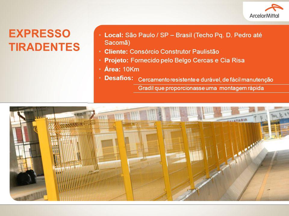 EXPRESSO TIRADENTES Local: São Paulo / SP – Brasil (Techo Pq. D. Pedro até Sacomã) Cliente: Consórcio Construtor Paulistão.