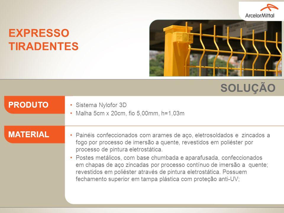 EXPRESSO TIRADENTES SOLUÇÃO PRODUTO MATERIAL Sistema Nylofor 3D