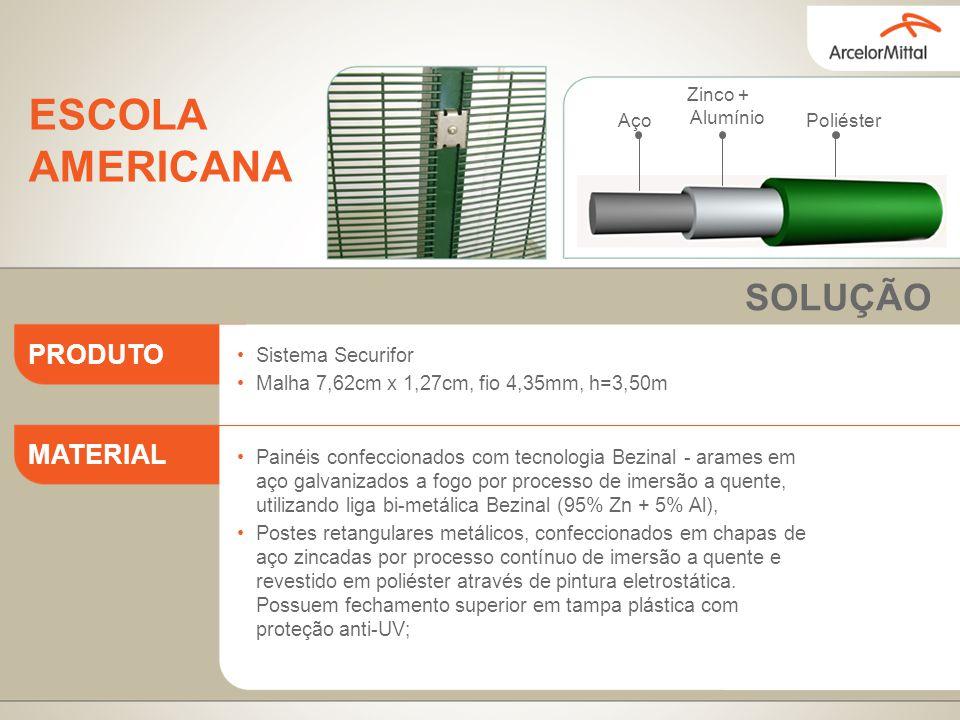 ESCOLA AMERICANA SOLUÇÃO PRODUTO MATERIAL Sistema Securifor