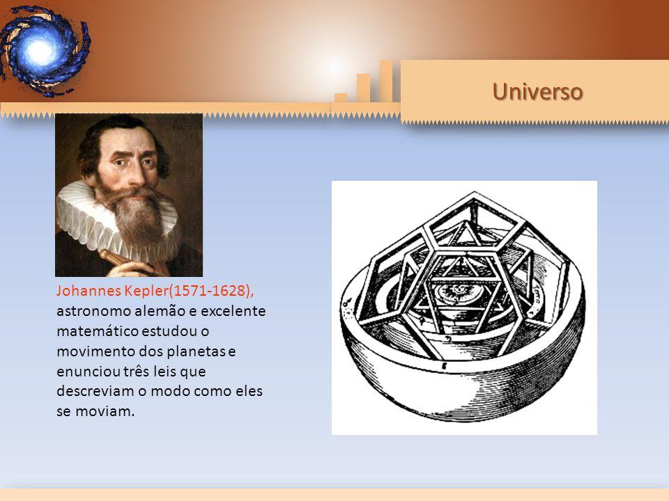 Johannes Kepler(1571-1628), astronomo alemão e excelente matemático estudou o movimento dos planetas e enunciou três leis que descreviam o modo como eles se moviam.