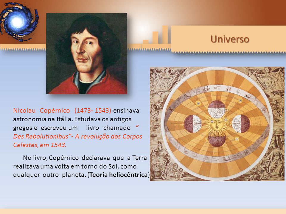 Nicolau Copérnico (1473- 1543) ensinava astronomia na Itália