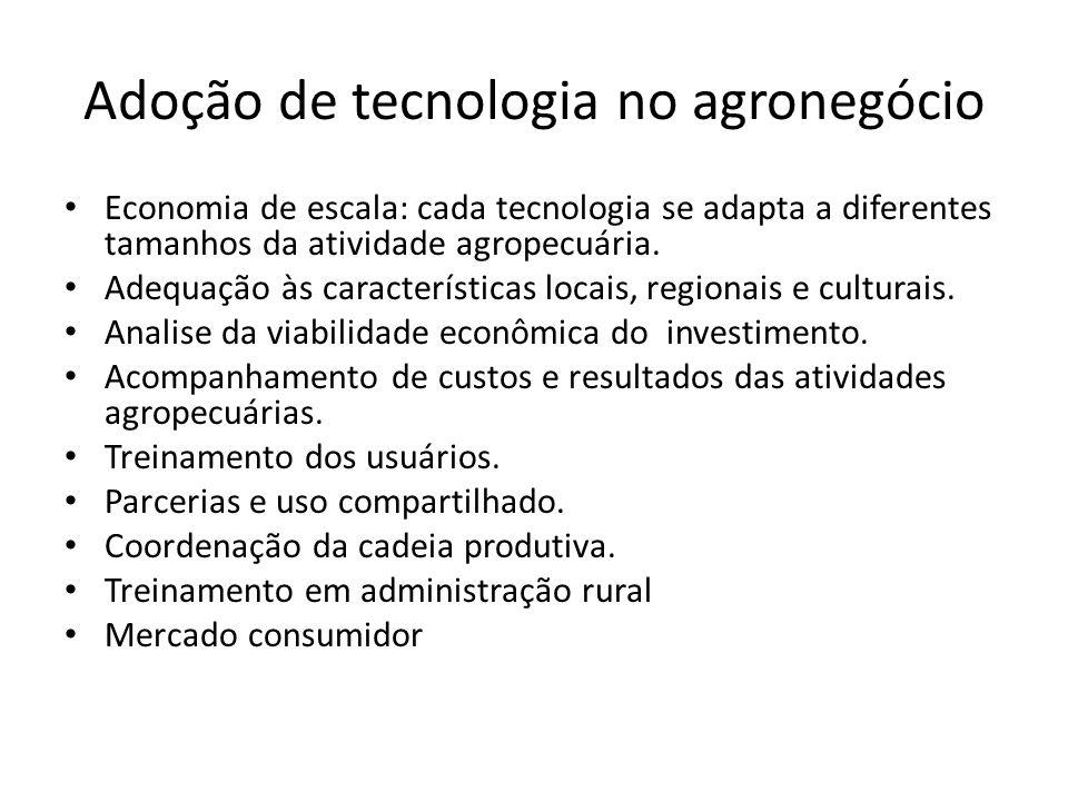 Adoção de tecnologia no agronegócio