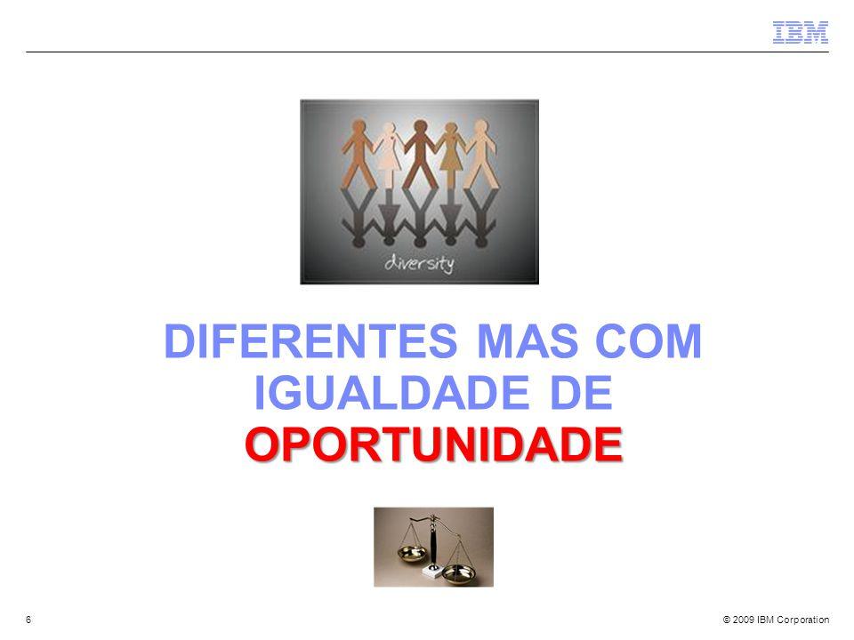 Diferentes mas com igualdade de oportunidade