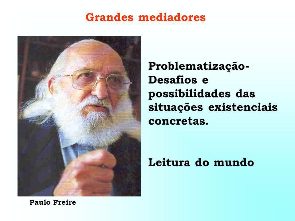 Grandes mediadores Problematização- Desafios e possibilidades das situações existenciais concretas.
